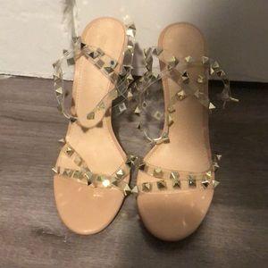Studded high heels!